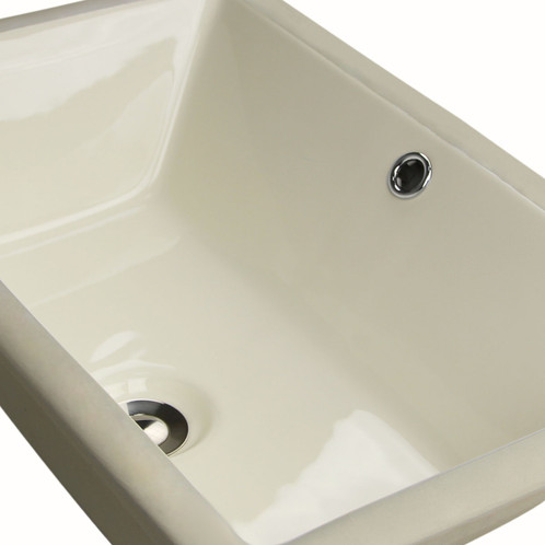 The Highpoint Collection White Rectangular Ceramic Sink Offers A Unique  Flat Bottom Option To The Popular Rectangular Vanity Bowl. Made From  Vitreous China, ...