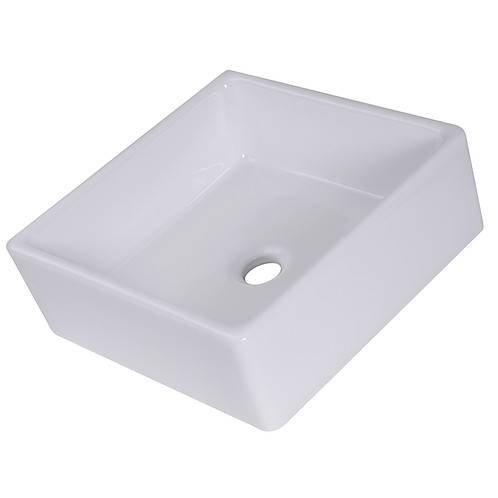 This Highpoint Collection 15 Inch, Perfectly Square Ceramic Vessel Sink  Offers A Nuanced Way To Improve Your Bathroom Decor. Crafted From Beautiful  Ceramic, ...