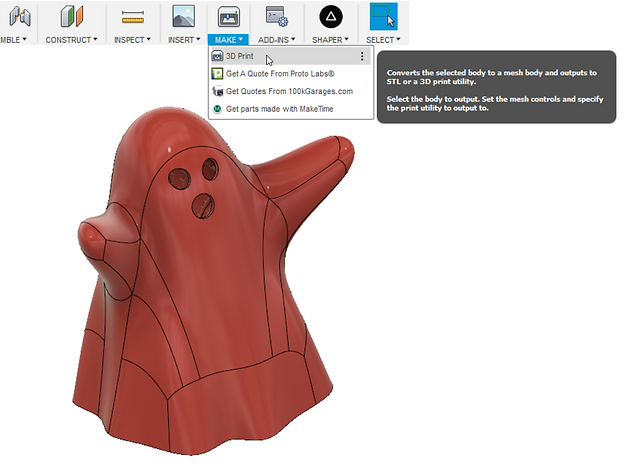 Exporting Multiple Bodies as One STL File in Fusion 360