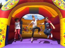 Bouncy castle trio