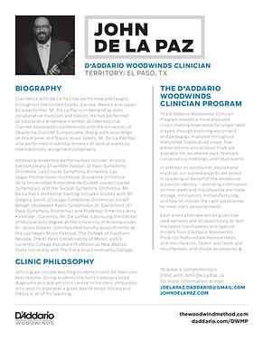 John De La Paz D'Addario Clinician