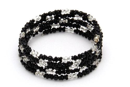 Spiralarmband black'n'white