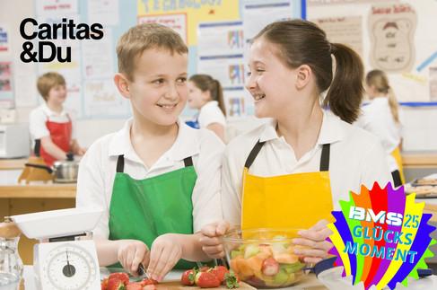 1 Woche lang gesunde Jause im Lerncafé der Caritas