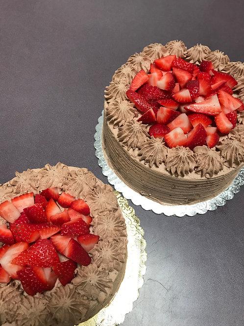 Gluten-Free Chocolate strawberry shortcake