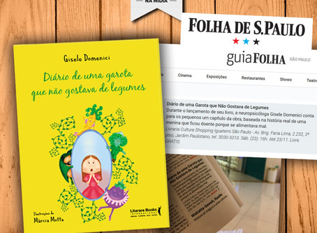 Folha de São Paulo - divulgação do livro Dra Gisele