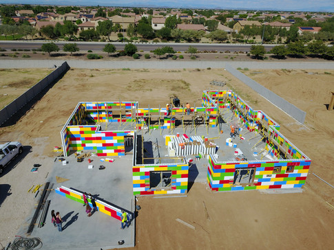 CONCRETE LEGO-LIKE HOME WITH CASTLE ROCK HOMES