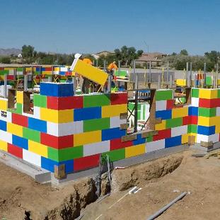 Concrete Lego-Like Home