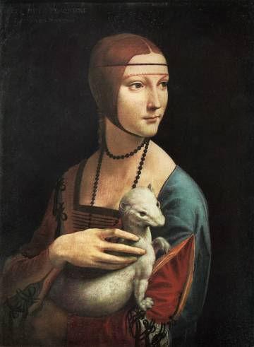 la dama de armiño de Leonardo Da Vinci.j