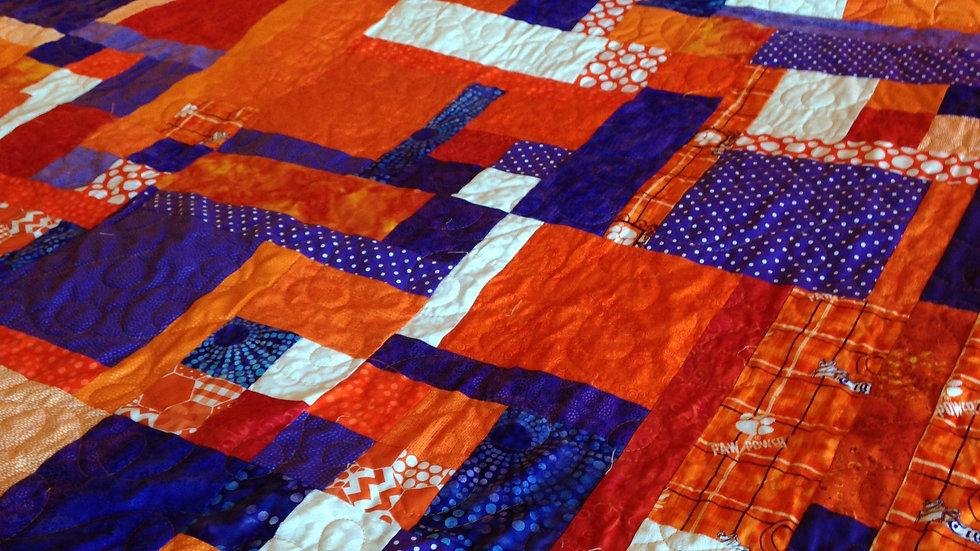Clemson Tiger Custom Quilt ($150 deposit required)