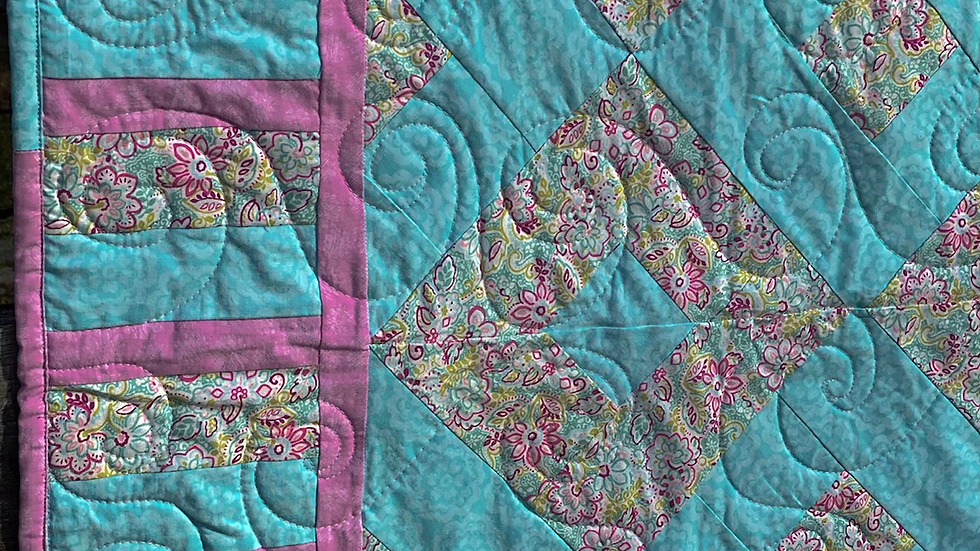 Teal and Pink quilt