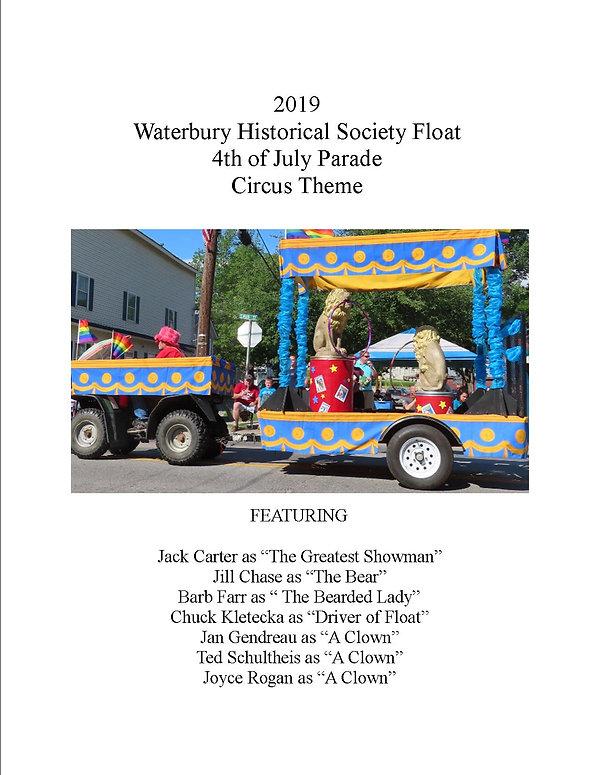 Waterbury Historical Society Parade 2019