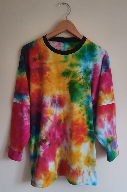 Long Sleeved Rainbow Tie Dye Lottie T-Shirt