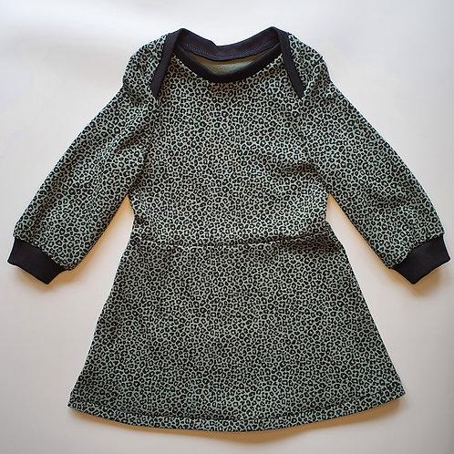 Infant Blue Leopard Dress