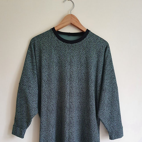 Long Sleeved Blue Leopard Lottie T-Shirt