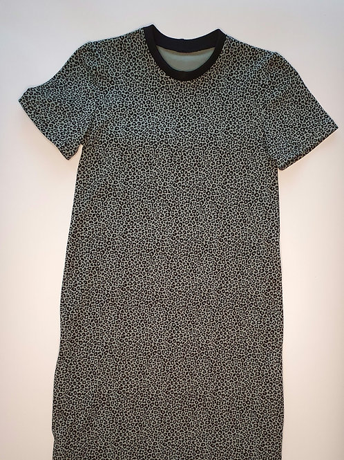 Age 7 to 11 Blue Leopard Children's Dress