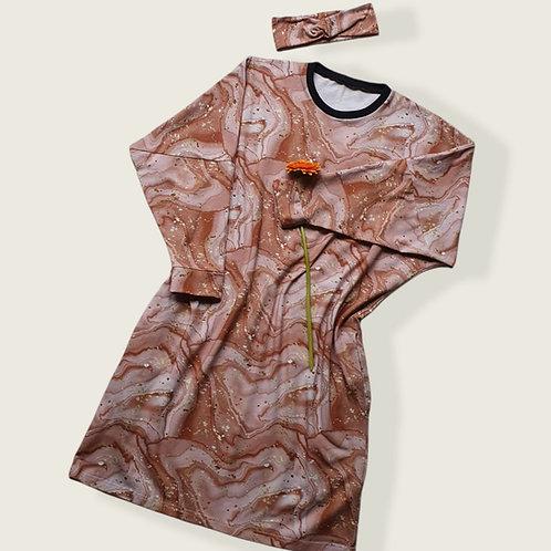 Rose Gold Marble Lottie Dress