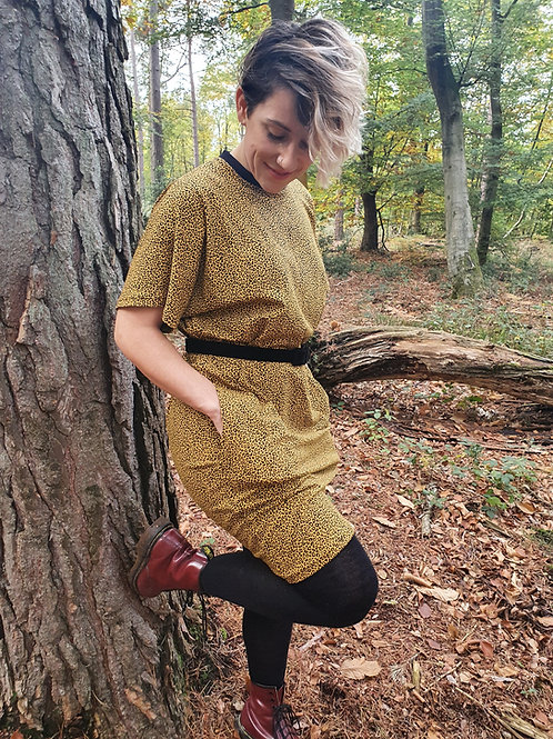 Short Sleeved Leopard Lottie Dress