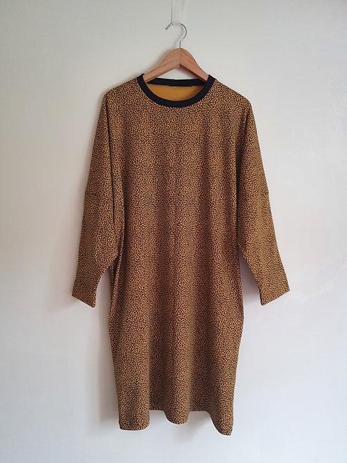 Long Sleeved Leopard Print Lottie Dress