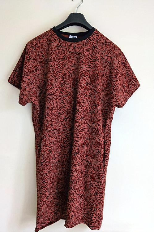 Short Sleeved Rusty Zebra Lottie Dress