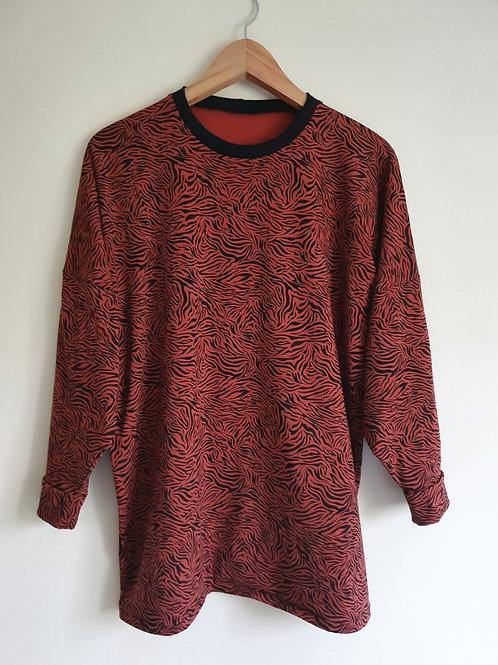 Long Sleeved Rusty Zebra Lottie T-Shirt