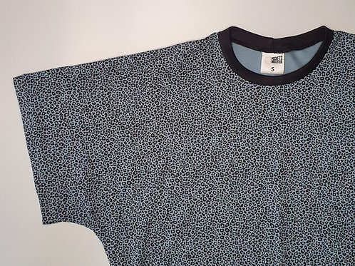 Denim-Blue Leopard Lottie T-Shirt