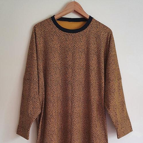 Long Sleeved Leopard Print Lottie T-Shirt