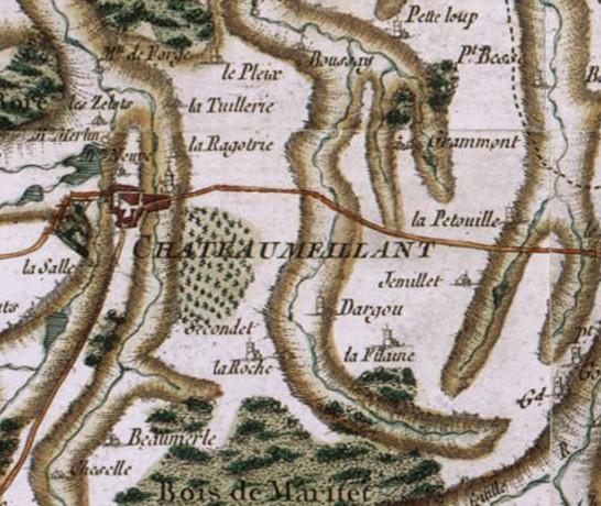 chateaumeillant-sur-la-carte-de-cassini-