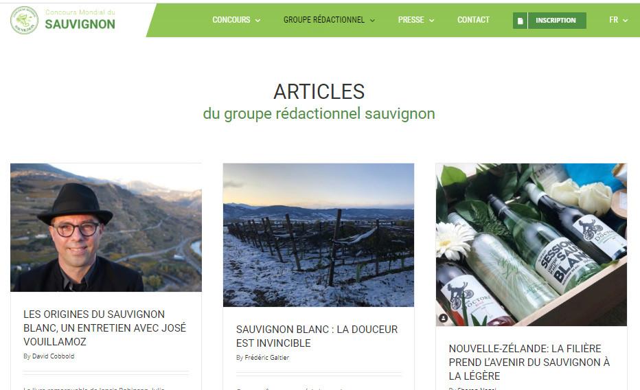 Articles du groupe rédactionnel du Concours Mondial du Sauvignon