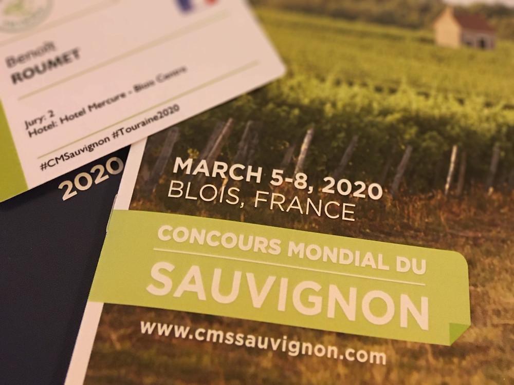 Kit de bienvenue au Concours Mondial du Sauvignon 2020