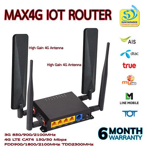 MAX4G IOT ROUTER -EC25E CAT4 150/50mbps