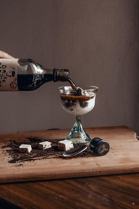 Drunk Barista Coffee Vodka Liqueur Ice C