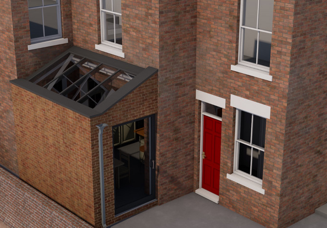Glazed-roof Kitchen extension submitted