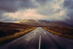 Road in Skye Island