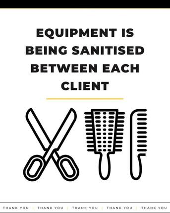 Sanitised Equipment