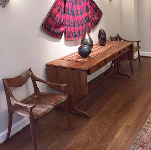 Drop Leaf Side Board with Lowback Chairs
