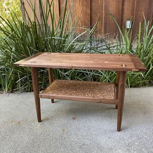Walnut/Cork End Table