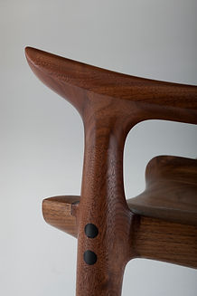 Details of Lowback Chair in Walnut