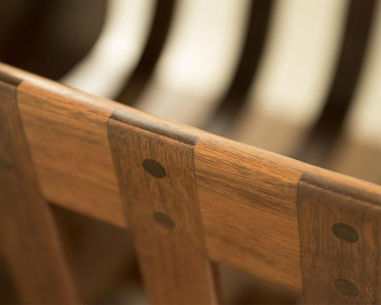 Details of Cradle Hutch in Walnut