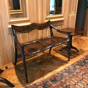 Lowback Settee with Side Table