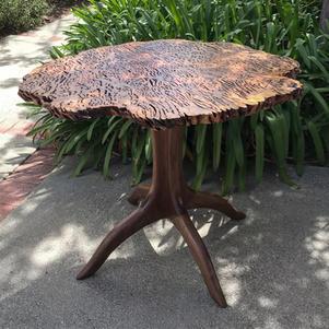 Tasmanian Ecualyptus Burl Top Table