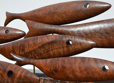 Fish Sculptures, ocean inspired