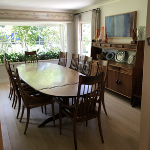 Drop Leaf Dining Table with Spindle Back Chairs