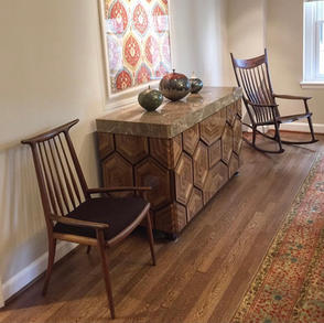 Hornback Chair and Rocking Chair