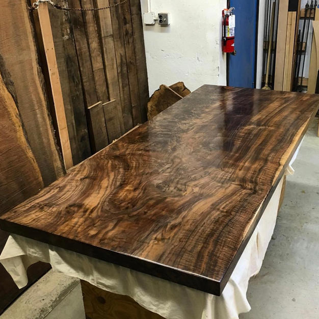 Claro Walnut Slab Desk Top