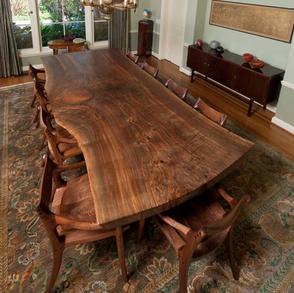 Single Slab Natural Edge Dining Table