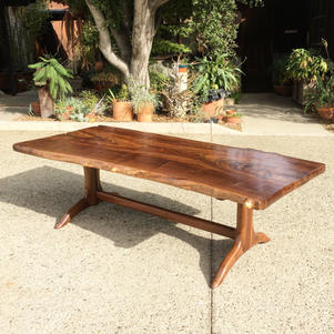 Natural Edge Slab Top Dining Table