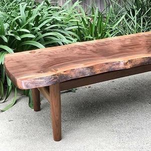 Natural Edge Slab Top Coffee Table