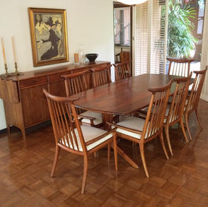 Dining Table with Hornback Chairs