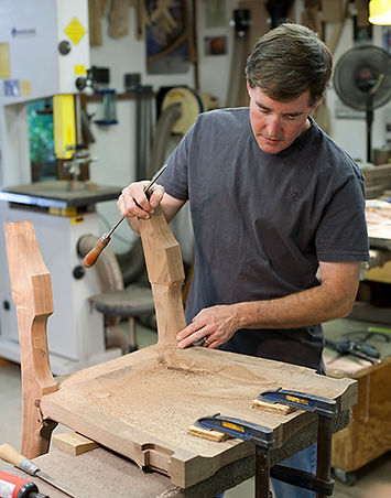 Mike Johnson shaping on a Lowback Chair