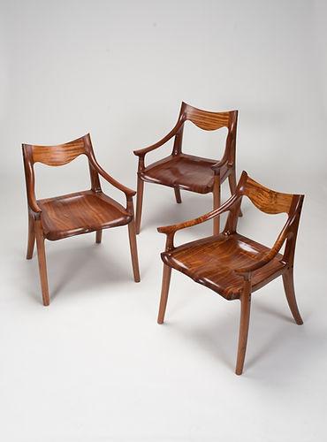 Sam Maloof Lowback Chair in Sapele